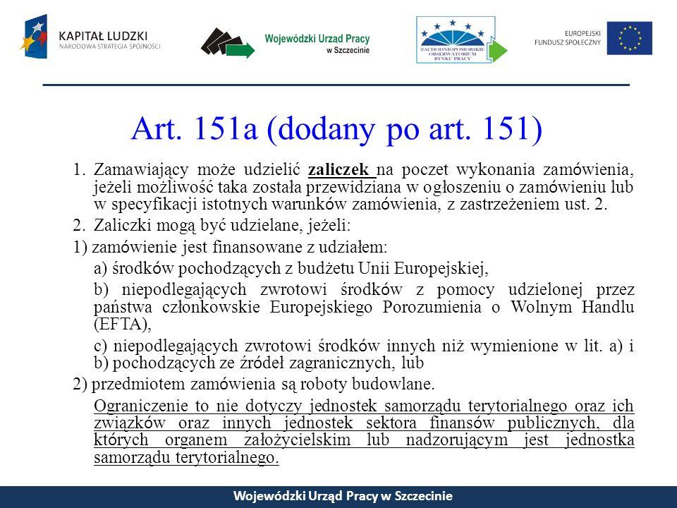 Art. 151a (dodany po art.