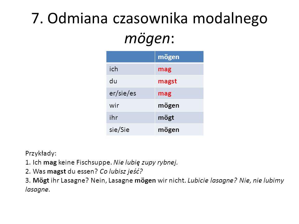 8.Rodzajniki w mianowniku i bierniku: l. poj.l. mn.