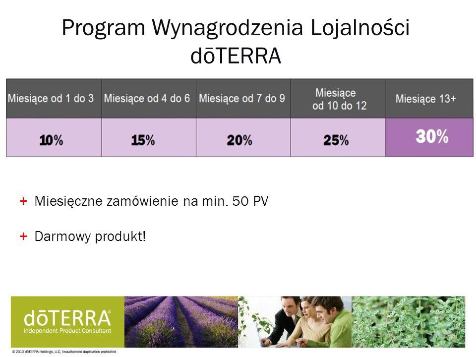 Program Wynagrodzenia Lojalności dōTERRA +Miesięczne zamówienie na min. 50 PV +Darmowy produkt!