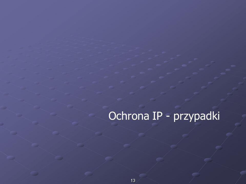 13 Ochrona IP - przypadki