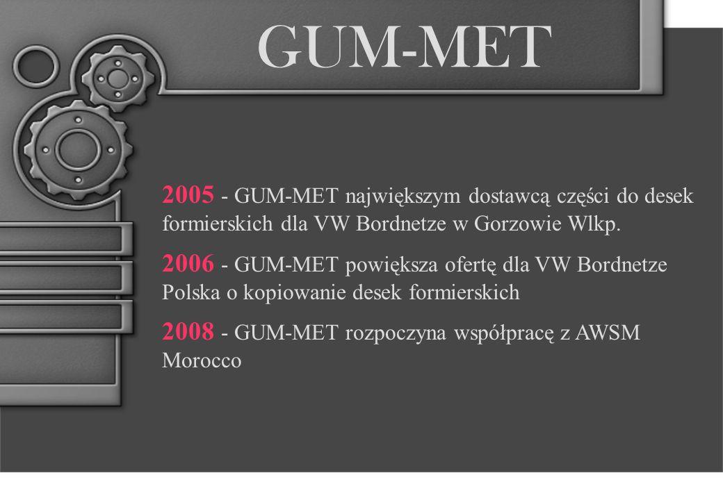 GUM-MET 2008 - GUM-MET głównym dostawcą elementów do budowy desek projektu A6 dla SEBN Nitra.