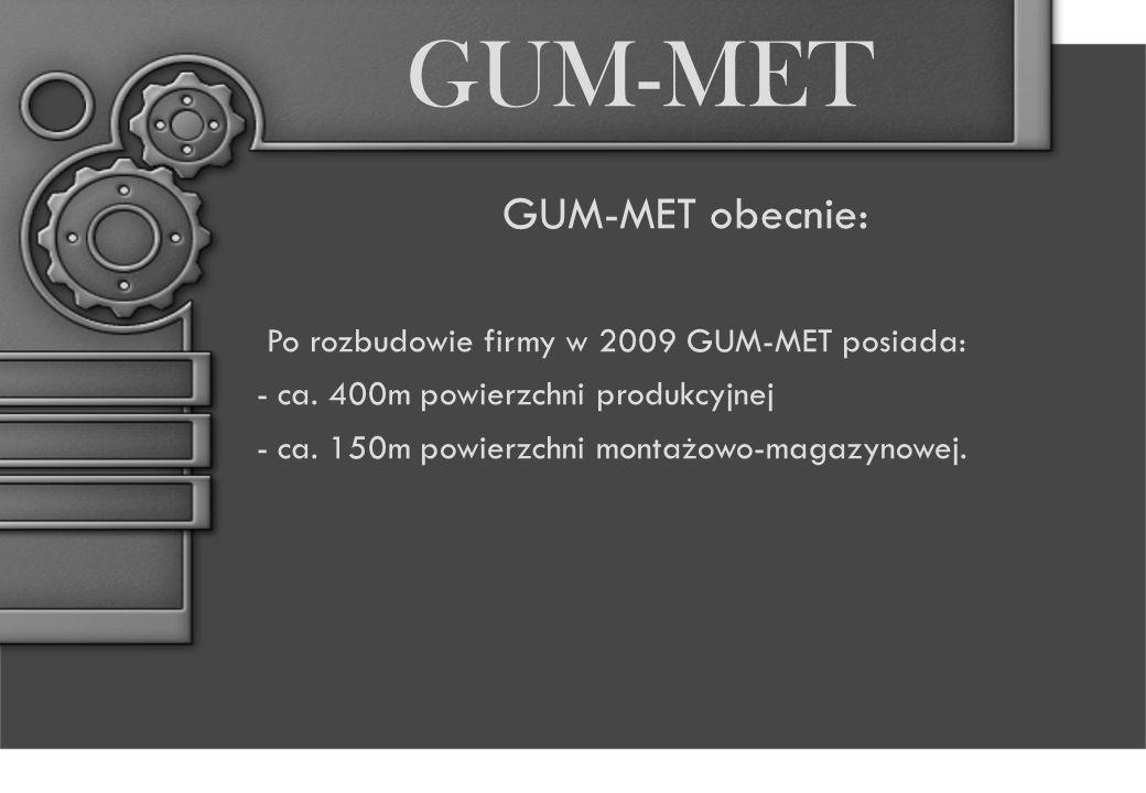 GUM-MET GUM-MET obecnie: Po rozbudowie firmy w 2009 GUM-MET posiada: - ca.