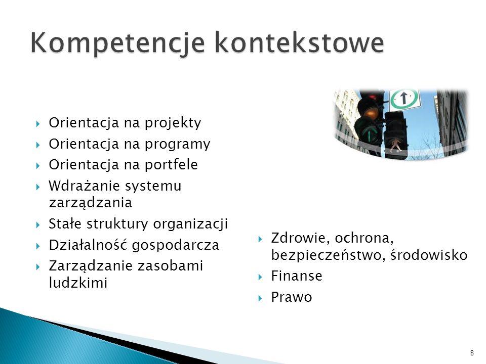 Orientacja na projekty Orientacja na programy Orientacja na portfele Wdrażanie systemu zarządzania Stałe struktury organizacji Działalność gospodarcza