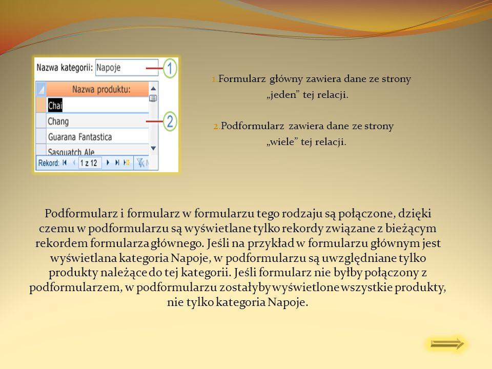Ta procedura pozwala użyć istniejącego formularza jako podformularza dla innego istniejącego formularza.