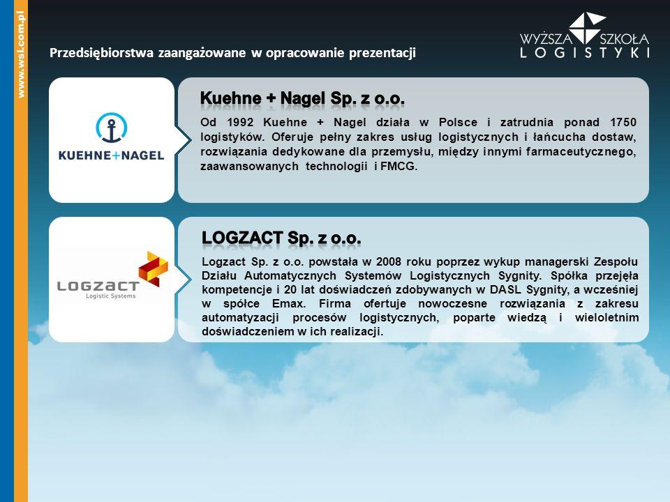 Przedsiębiorstwa zaangażowane w opracowanie prezentacji