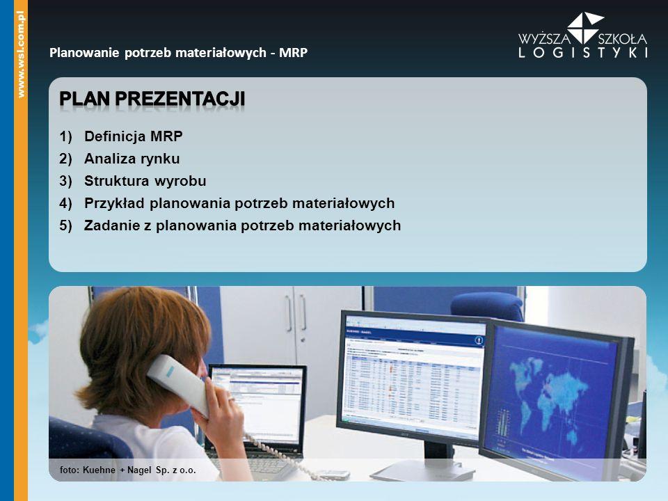 Planowanie potrzeb materiałowych - MRP foto: Kuehne + Nagel Sp. z o.o.