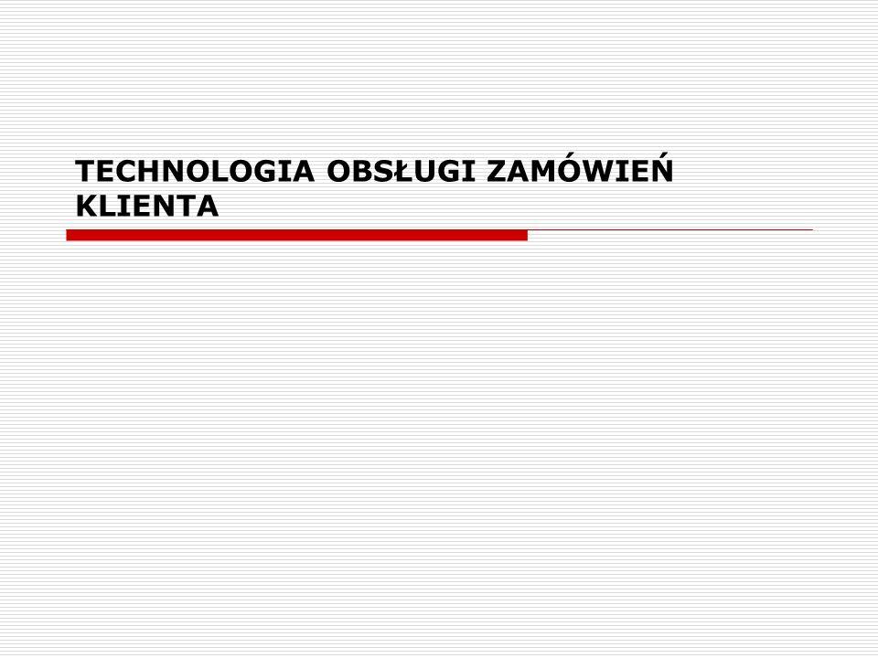 TECHNOLOGIA OBSŁUGI ZAMÓWIEŃ KLIENTA