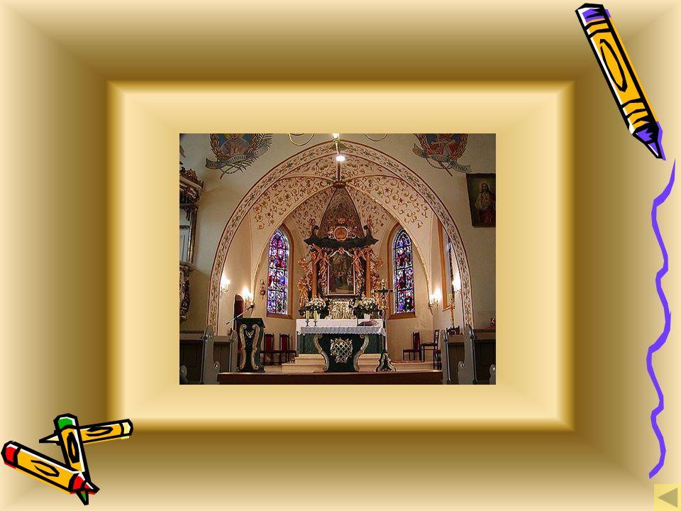 kościół parafialny, kościół parafialny, Historia przepięknie położonej wśród pól, lasów i jezior wsi, sięga roku 1341.