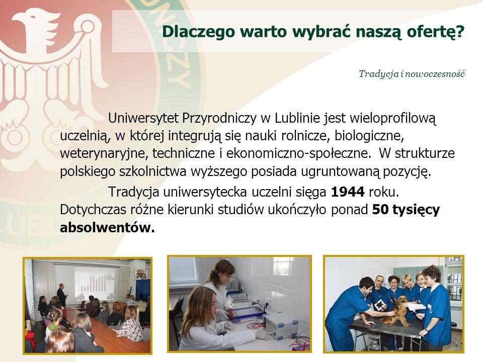 Uniwersytet Przyrodniczy w Lublinie jest wieloprofilową uczelnią, w której integrują się nauki rolnicze, biologiczne, weterynaryjne, techniczne i ekonomiczno-społeczne.
