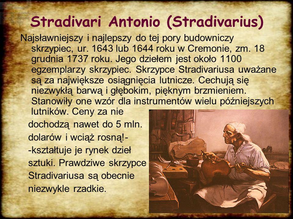 Najwybitniejsi skrzypkowie Niccolò Paganini Henryk Wieniawski Karol Lipiński Wanda Wiłkomirska Konstanty Andrzej Kulka