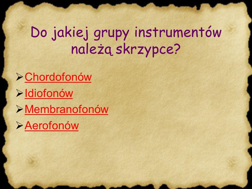 TEST Co wiesz o skrzypcach?