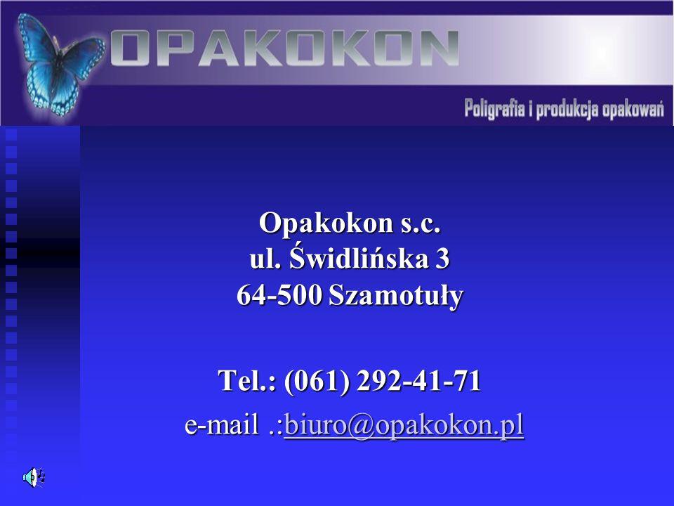 O firmie Firma OPAKOKON s.c.
