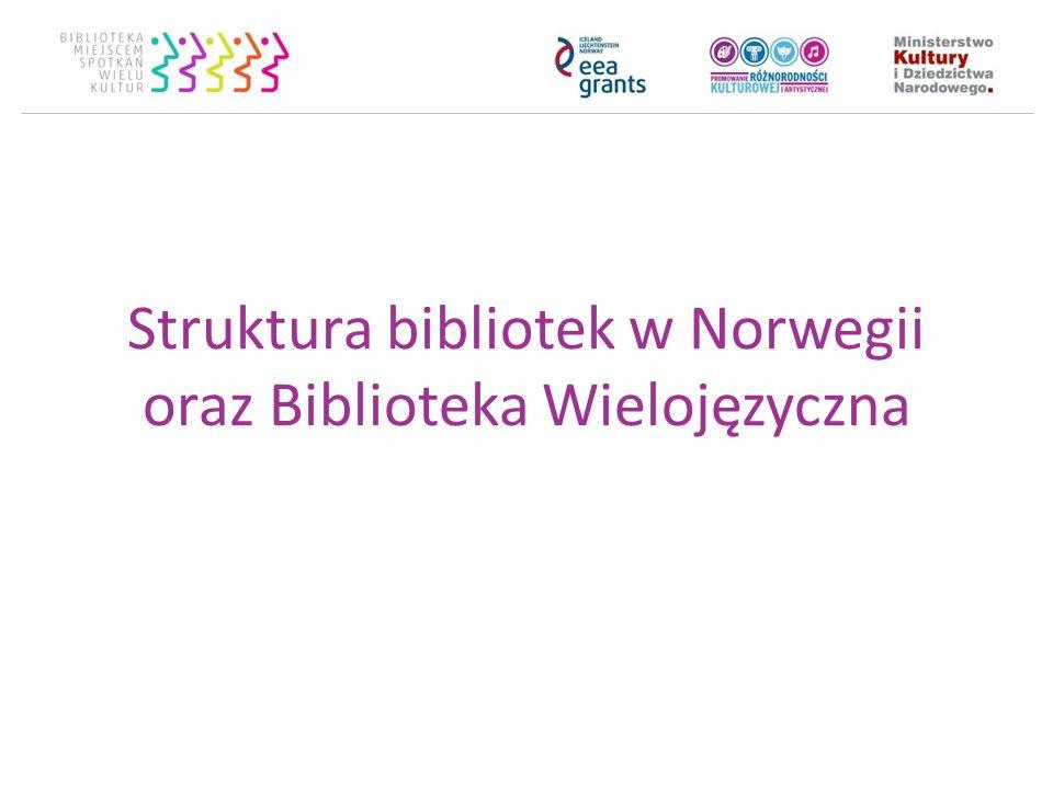 Struktura bibliotek w Norwegii oraz Biblioteka Wielojęzyczna Oddbjørn Hansen Librarian