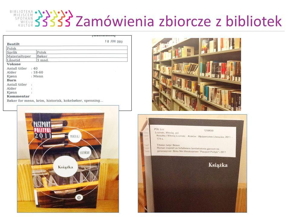 Zamówienia zbiorcze z bibliotek