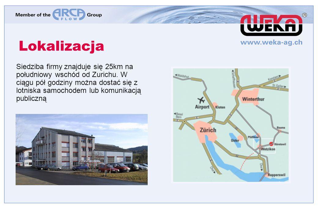 Lokalizacja Siedziba firmy znajduje się 25km na południowy wschód od Zurichu.