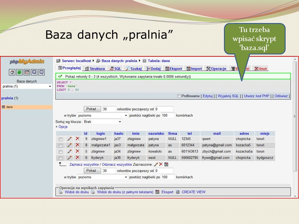 Fragment kodu pliku zamowienia.php Zamówienie zostanie przesłane firmie e - mailem