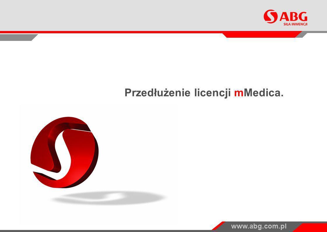www.abg.com.pl Przedłużenie licencji mMedica.