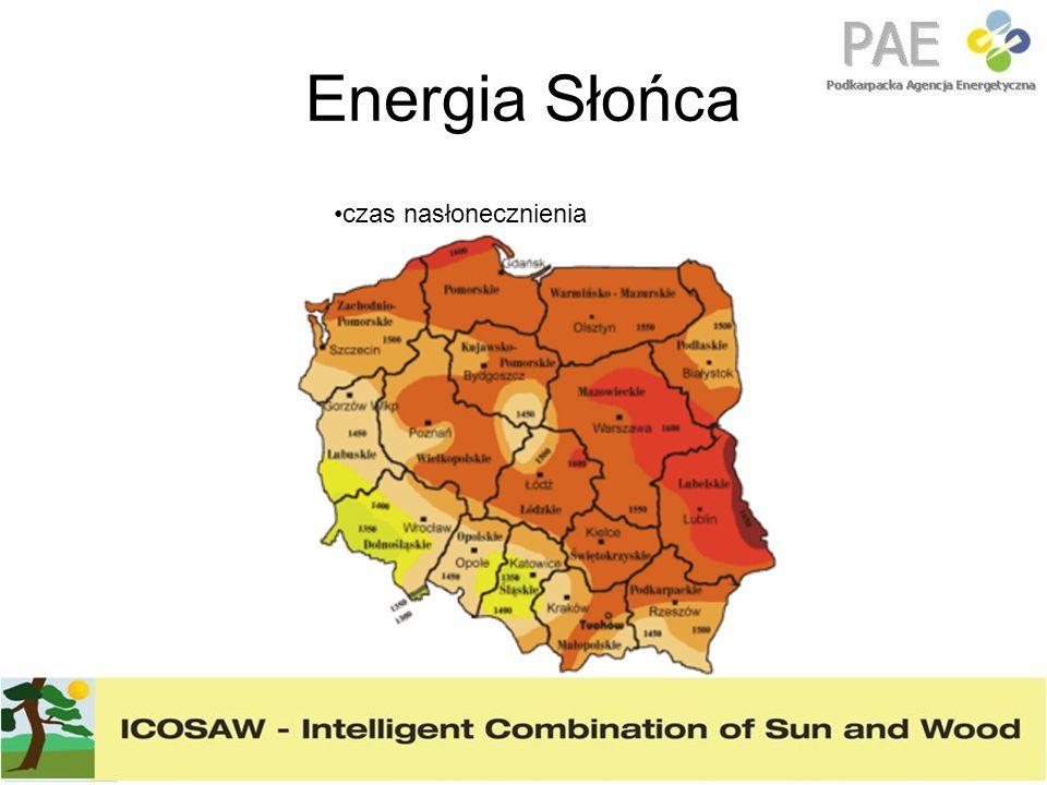Energia Słońca W Podkarpackim średnie nasłonecznienie miesięczne wg danych 10 letnich wynosi odpowiednio od 0,8 kWh/m2/dzień w grudniu do 5.04 kWh/m2/dzień w lipcu.