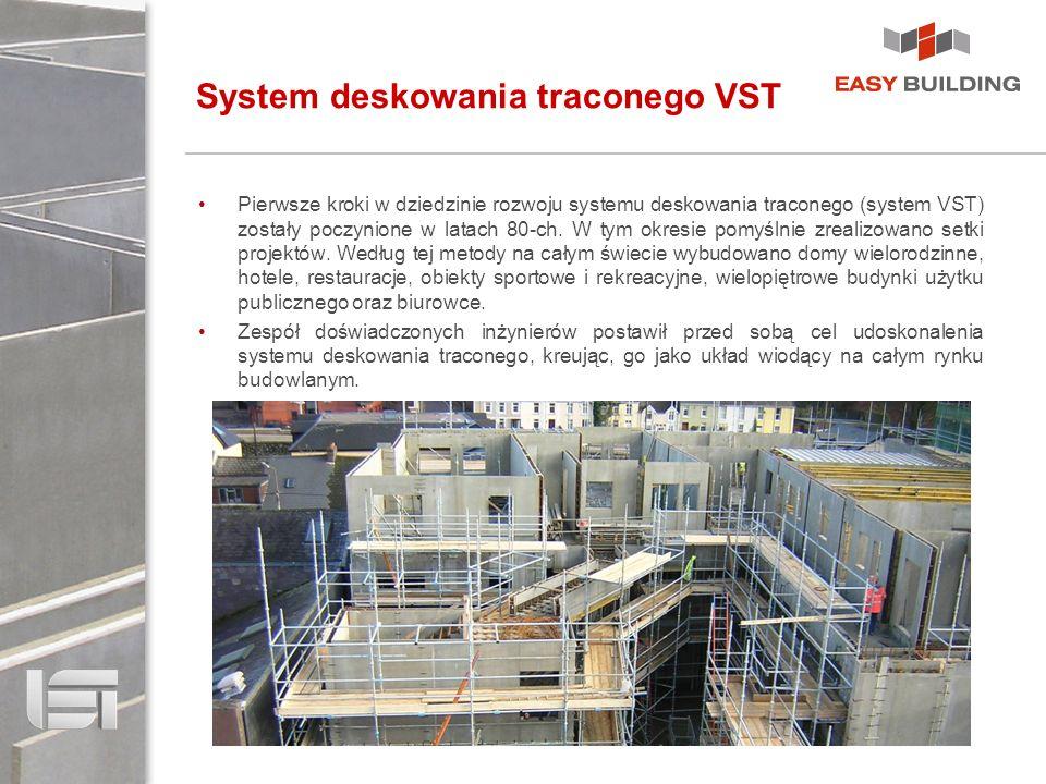 System deskowania traconego VST Pierwsze kroki w dziedzinie rozwoju systemu deskowania traconego (system VST) zostały poczynione w latach 80-ch. W tym