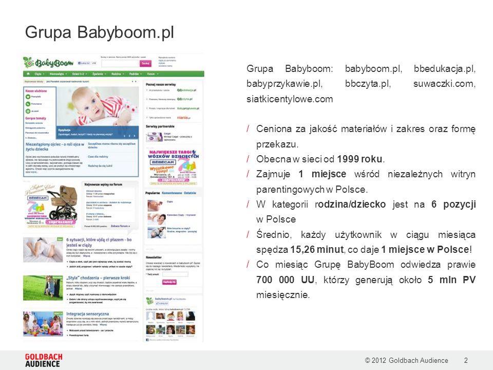 Grupa Babyboom: babyboom.pl, bbedukacja.pl, babyprzykawie.pl, bbczyta.pl, suwaczki.com, siatkicentylowe.com /Ceniona za jakość materiałów i zakres ora
