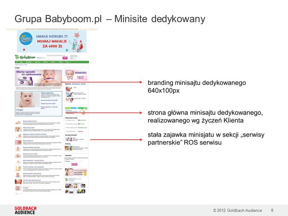 © 2012 Goldbach Audience8 Grupa Babyboom.pl – Minisite dedykowany