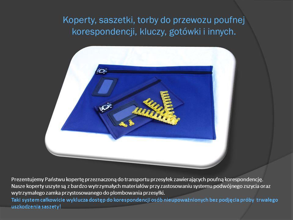 Koperty, saszetki, torby do przewozu poufnej korespondencji, kluczy, gotówki i innych. Prezentujemy Państwu kopertę przeznaczoną do transportu przesył
