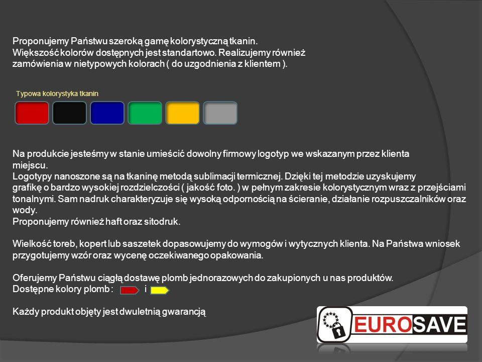 Proponujemy Państwu szeroką gamę kolorystyczną tkanin. Większość kolorów dostępnych jest standartowo. Realizujemy również zamówienia w nietypowych kol