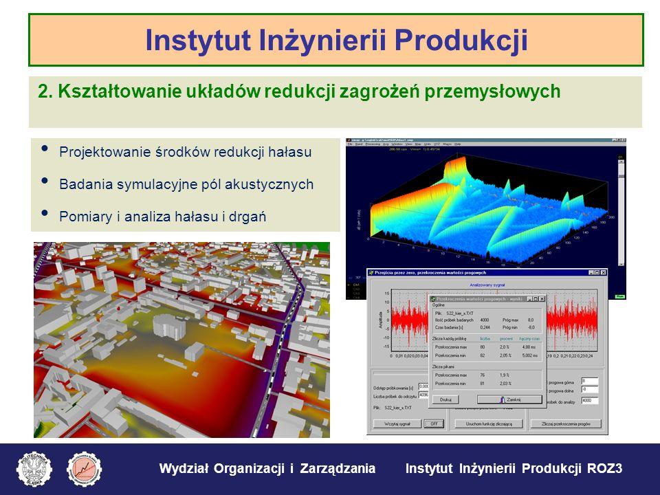 Wydział Organizacji i Zarządzania Instytut Inżynierii Produkcji ROZ3 2. Kształtowanie układów redukcji zagrożeń przemysłowych Instytut Inżynierii Prod