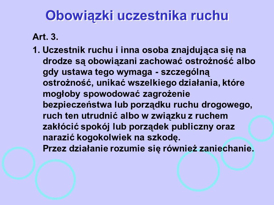 Nadzór nad zarządzaniem ruchem na drogach Art.10.