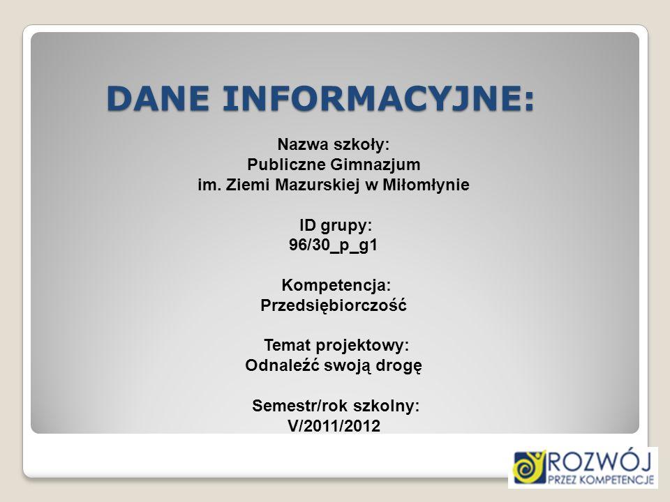 Bibliografia: http://www.szkolnictwo.pl/index.php?id=PA0004 http://www.lo1.ostroda.pl/ http://www.zsog.ilawa.pl/ http://www.powiat-ilawski.pl/lo/main.html http://zspaslek.edu.pl/index.php?option=com_content&tas k=blogcategory&id=42&Itemid=89 http://zspaslek.edu.pl/index.php?option=com_content&tas k=blogcategory&id=42&Itemid=89 http://www.2lo.elblag.pl/kola-zainteresowan/485-zajecia- dodatkowe-20112012.html