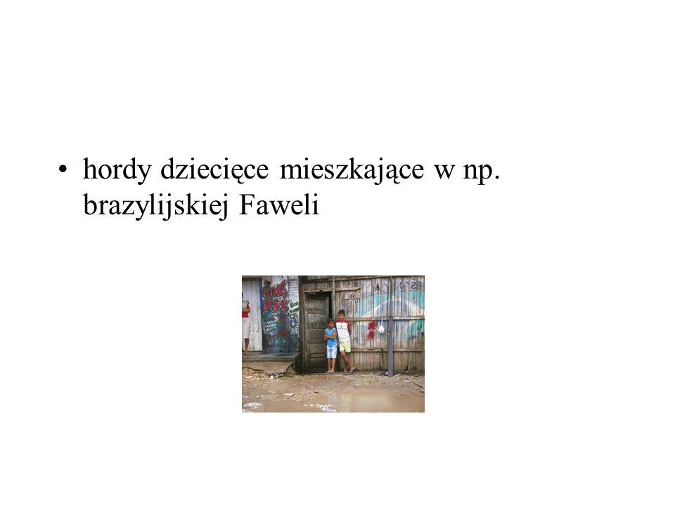 hordy dziecięce mieszkające w np. brazylijskiej Faweli