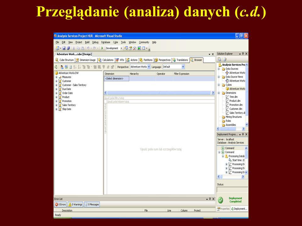 Przeglądanie (analiza) danych (c.d.)
