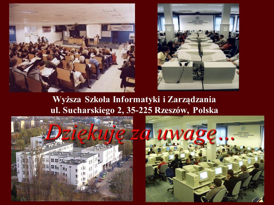 Wyższa Szkoła Informatyki i Zarządzania ul.
