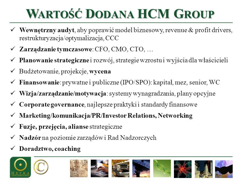 Wewnętrzny audyt, aby poprawić model biznesowy, revenue & profit drivers, restrukturyzacja/optymalizacja, CCC Zarządzanie tymczasowe: CFO, CMO, CTO, …