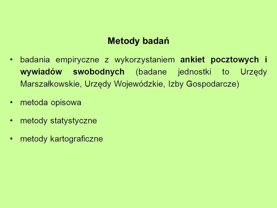Regiony zagraniczne wg liczby polskich partnerów - współpraca formalna