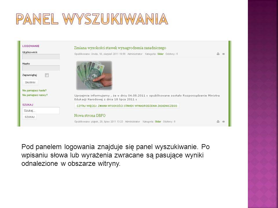 Pod panelem wyszukiwania znajduje się sekcja banerów z odnośnikami do przydatnych stron internetowych.