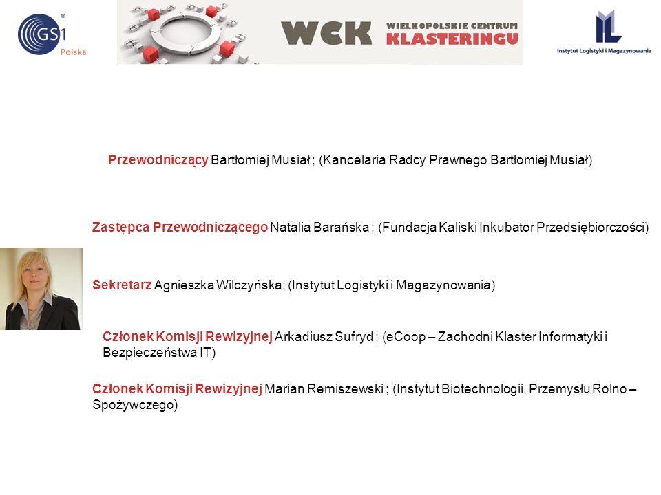 Przewodniczący Bartłomiej Musiał ; (Kancelaria Radcy Prawnego Bartłomiej Musiał) Zastępca Przewodniczącego Natalia Barańska ; (Fundacja Kaliski Inkuba