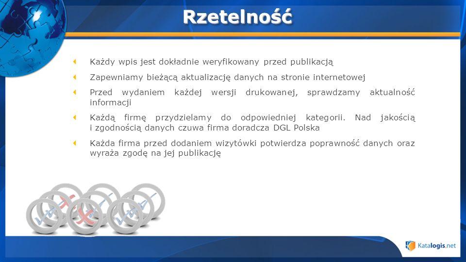 Każdy wpis jest dokładnie weryfikowany przed publikacją Zapewniamy bieżącą aktualizację danych na stronie internetowej Przed wydaniem każdej wersji dr