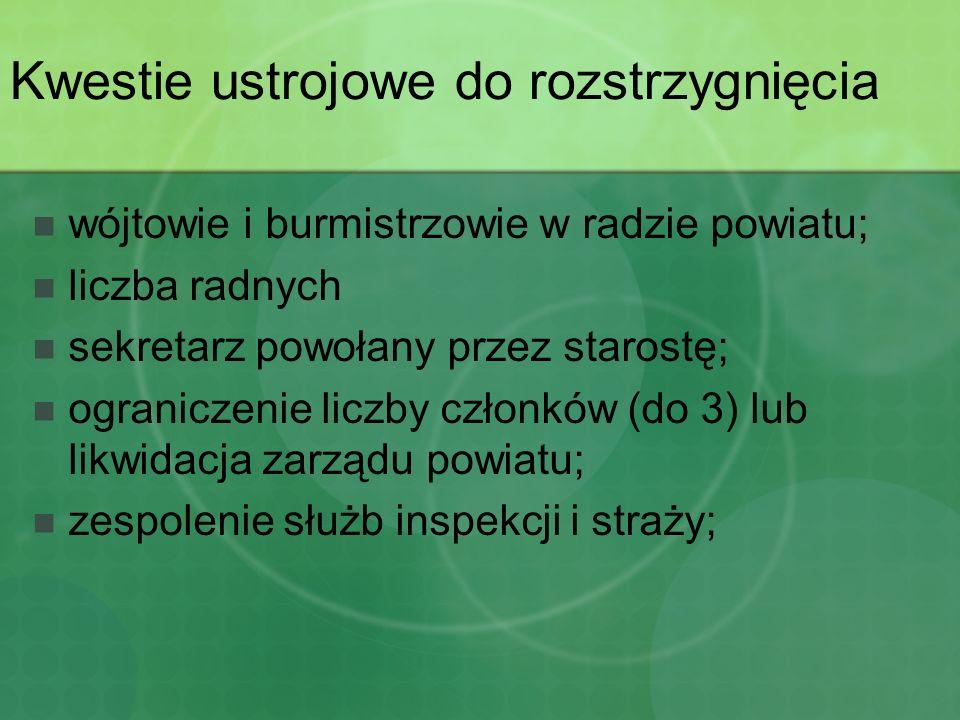 Ustawa o samorządzie powiatowym Rozszerzenie definicji powiatu (art.