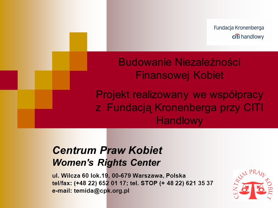 Centrum Praw Kobiet Women s Rights Center ul.