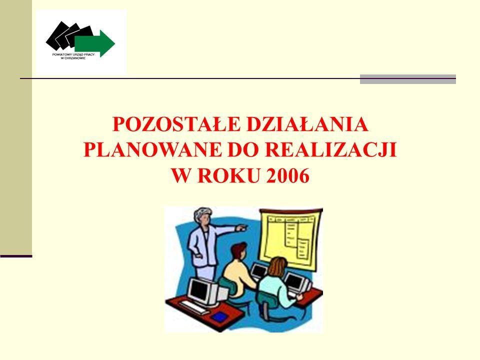 POZOSTAŁE DZIAŁANIA PLANOWANE DO REALIZACJI W ROKU 2006