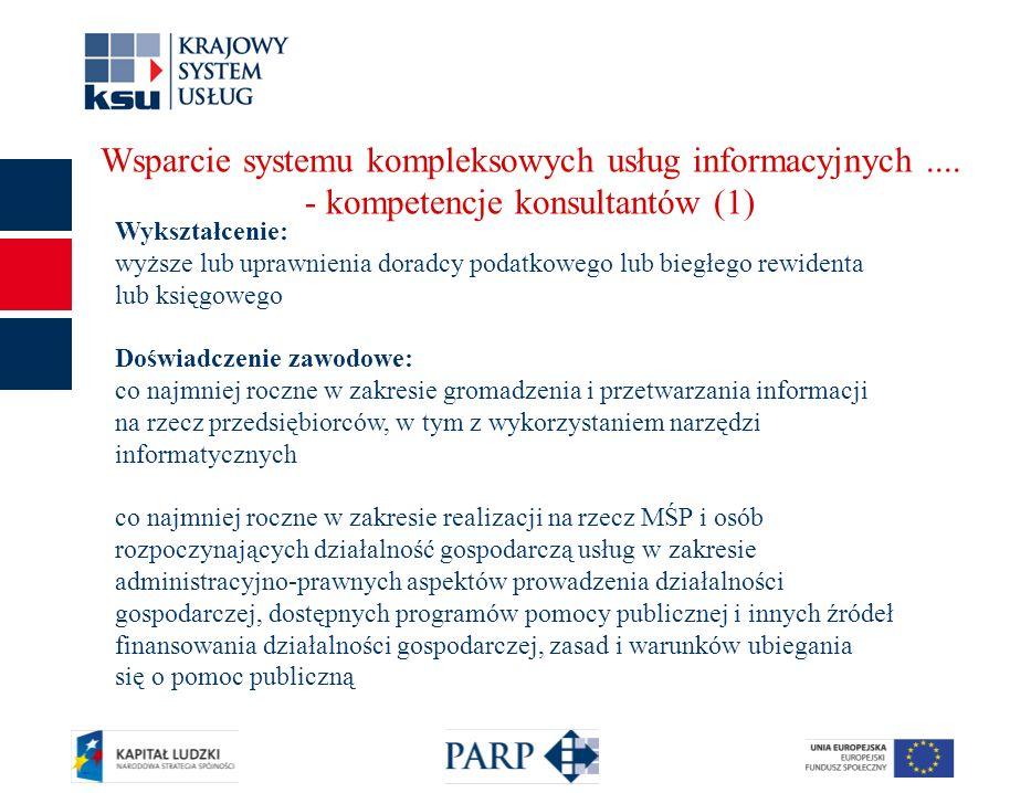 12 Wsparcie systemu kompleksowych usług informacyjnych....