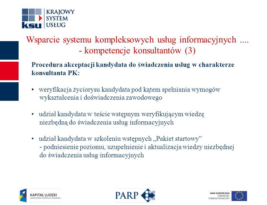 14 Wsparcie systemu kompleksowych usług informacyjnych....