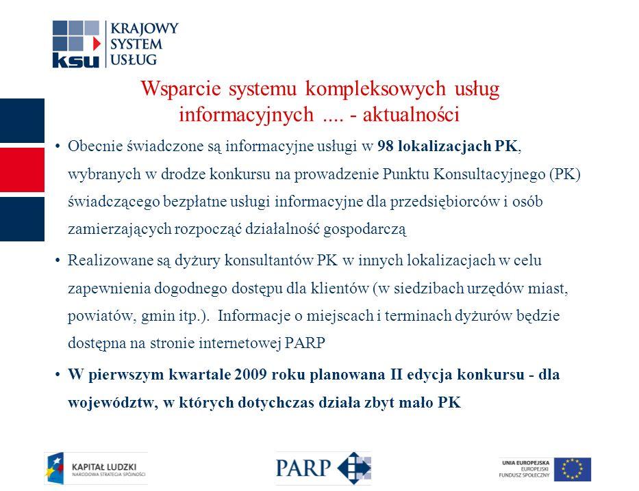 Wsparcie systemu kompleksowych usług informacyjnych....