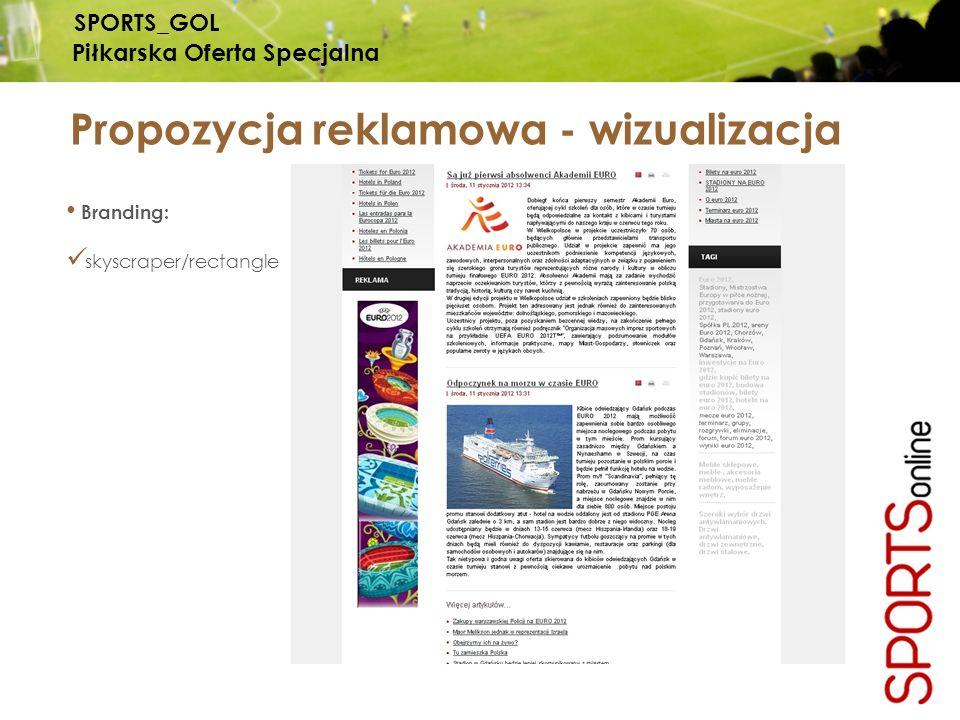 Propozycja reklamowa - wizualizacja SPORTS_GOL Piłkarska Oferta Specjalna Branding: skyscraper/rectangle