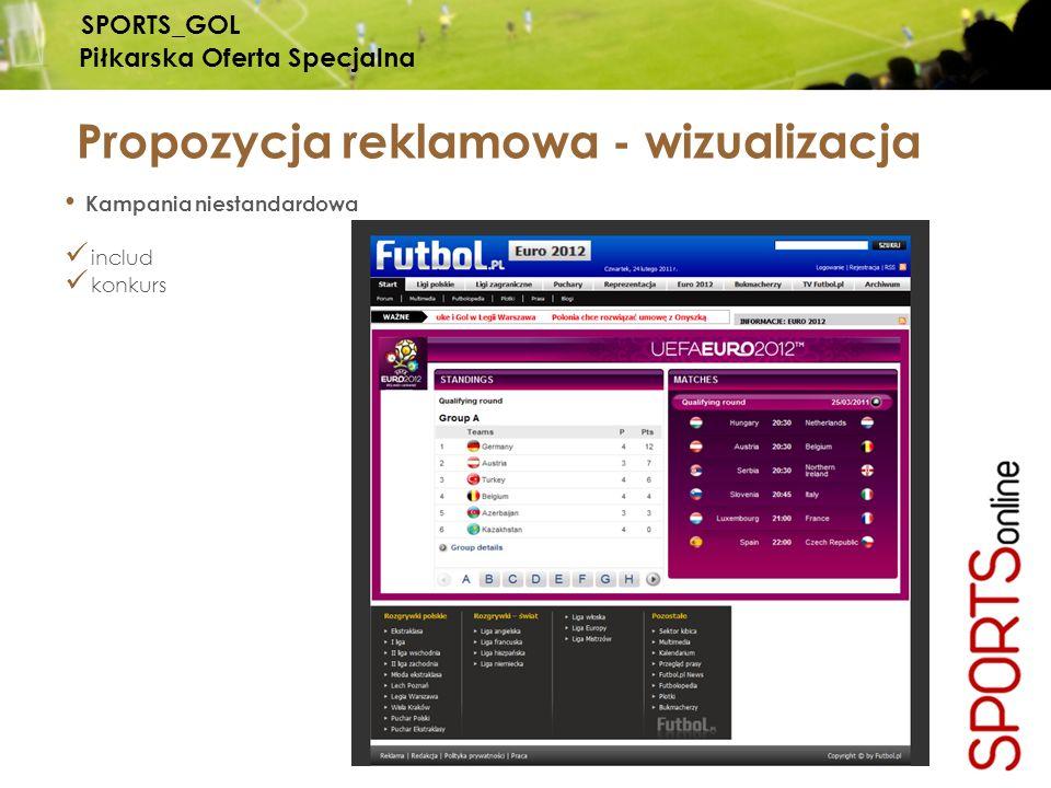 Kampania niestandardowa includ konkurs Propozycja reklamowa - wizualizacja SPORTS_GOL Piłkarska Oferta Specjalna