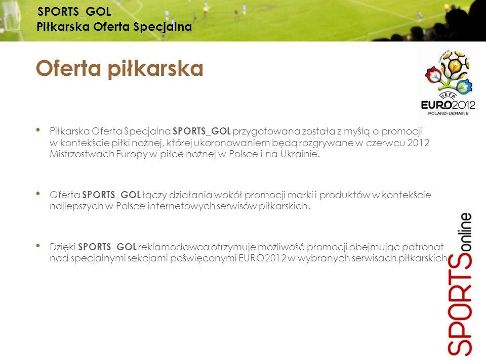 Piłkarska Oferta Specjalna SPORTS_GOL przygotowana została z myślą o promocji w kontekście piłki nożnej, której ukoronowaniem będą rozgrywane w czerwc
