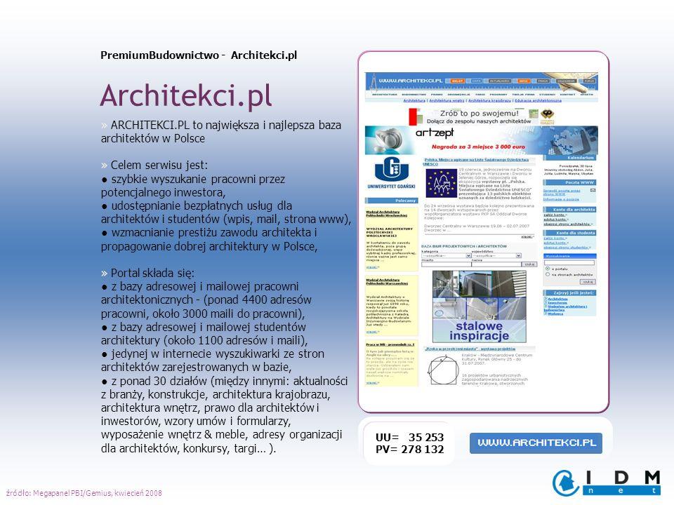 PremiumBudownictwo - Architekci.pl Architekci.pl UU= 35 253 PV= 278 132 » ARCHITEKCI.PL to największa i najlepsza baza architektów w Polsce » Celem se