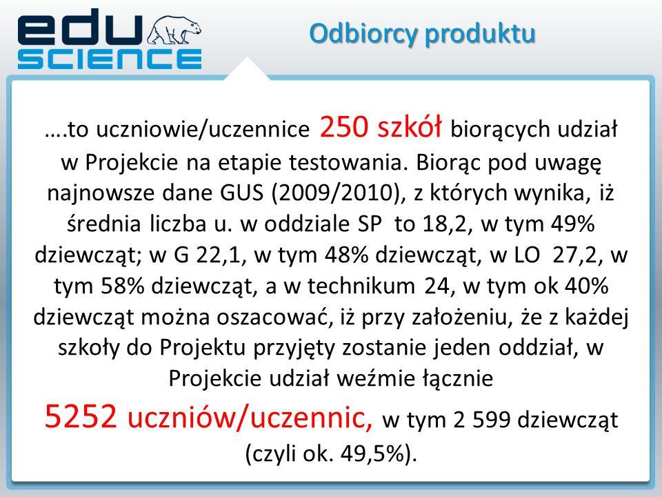 Eduscience w liczbach 250 szkół 250 szkół w całej Polsce uczestniczących w projekcie (każda szkoła otrzyma tablicę interaktywną wraz z oprogramowaniem oraz monitoring przyrodniczy) 41 miesięcy 41 miesięcy – czas realizacji projektu 43 tys.