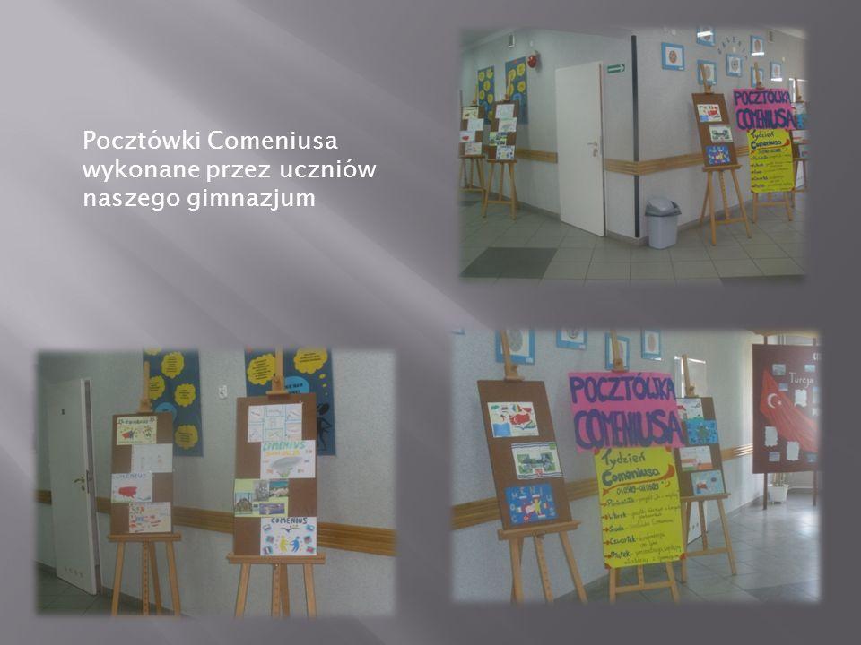 Pocztówki Comeniusa wykonane przez uczniów naszego gimnazjum